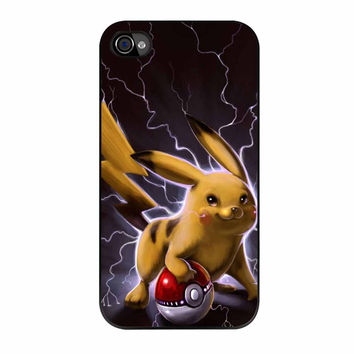 Pikachu Electric Power Mode iPhone 4s Case