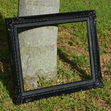 Ornate Picture Frame Metallic Black 25 x 21