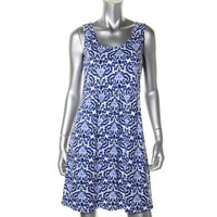 Bella Luxx Womens Space Dot Above Knee Casual Dress