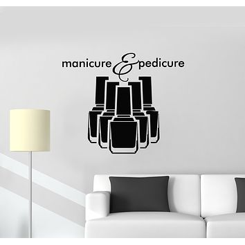Vinyl Wall Decal Nail Studio Polish Manicure Pedicure Beauty Salon Stickers Mural (g1447)