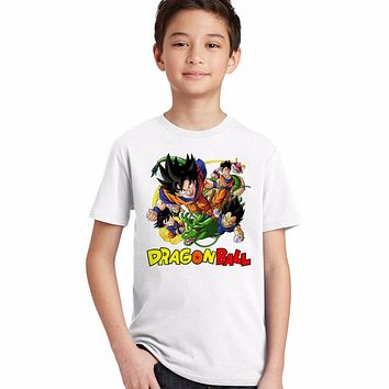 2017 brand new kids dragon ball z t shirt children goku anime t-shirt boy summer cartoon tshirt super hero Saiyan kids clothes