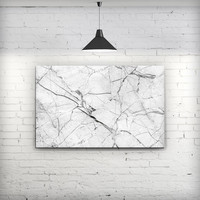 Cracked White Marble Slate - Fine-Art Wall Canvas Prints
