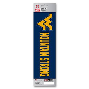 West Virginia Mountaineers Decal Die Cut Slogan 2 Pack