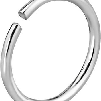 20g Sterling Silver 8 mm Seamless Nose Ring Hoop