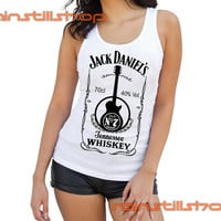 JD guitar whiskey - tank top for women