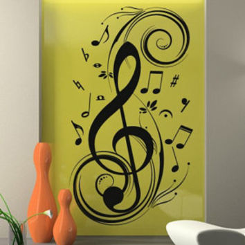 Music Clef wall decal for housewares