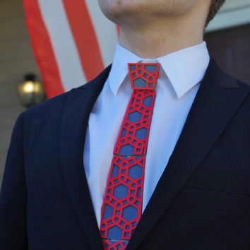 3D Printed Necktie For Men// Pattern Necktie // Customizable, Create Your Own Design // Ties3d.com