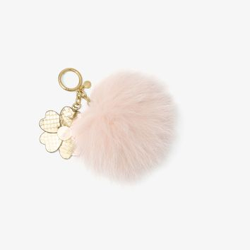 Fur Key Chain With Leather Charm | Michael Kors
