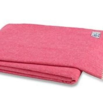 Italian Herringbone Throw Cosmo Pink by Lands Downunder