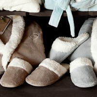 Cozy Sherpa Slippers | Pottery Barn