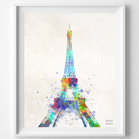 Eiffel Tower Poster, Art Print, France Art, Paris, Watercolor Art, La Tour Eiffel, Illustration Art, Eiffel Top, Europe, Valentines Day Gift