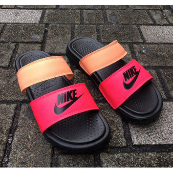 Nike Woman Men Fashion Casual Multicolor Sandals Slipper Shoes a47e82c66b