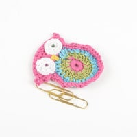 Handmade crocheted owl designer jewelry fittings textile blank for brooch