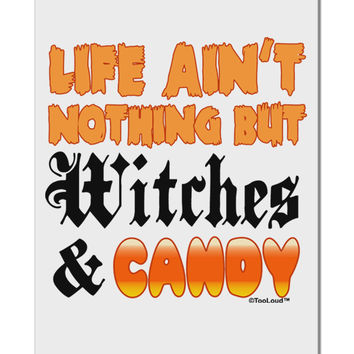 "TooLoud Witches and Candy Color Aluminum 8 x 12"" Sign"