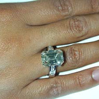 9.20ct Emerald Cut Diamond Engagement Ring GIA certified 18kt White Gold JEWELFORME BLUE