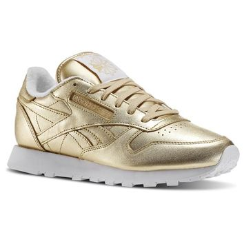Reebok x FACE Stockholm Classic Leather Spirit - Gold | Reebok US