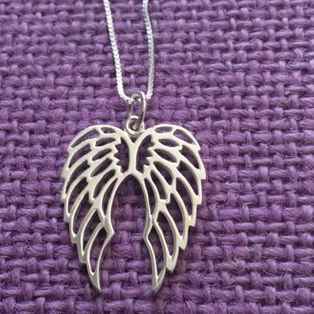 Sympathy Gift - Memorial Gift - Memorial Jewelry - Memorial Necklace - Sympathy Jewelry - Sympathy Necklace - Angel wing necklace - Guardian
