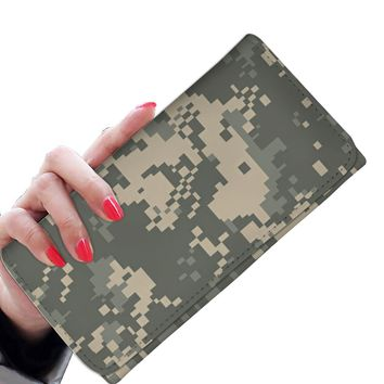 'Military Army Camouflage' [Camo Pattern] Women's Clutch Purse Wallet