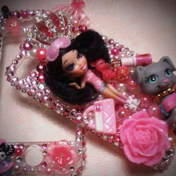 TheCraftStar - Market Place - Cutest Cellphone CASE With Barbie Doll Bling Iphone 4G/4S Back and Front Case Adorable Princess
