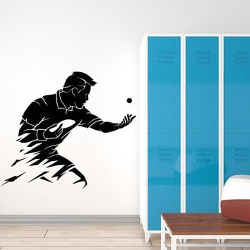 Vinyl Wall Decal Abstract Table Tennis Olympic Games Sport Ball Stickers (2768ig)