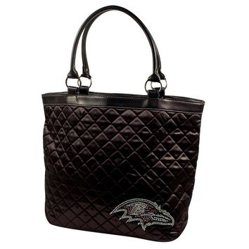 Baltimore Ravens NFL Sport Noir Quilted Tote