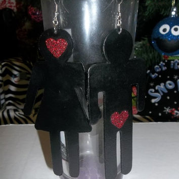 """Funny Club Style """"The Ugly Truth""""Love  People Earrings"""