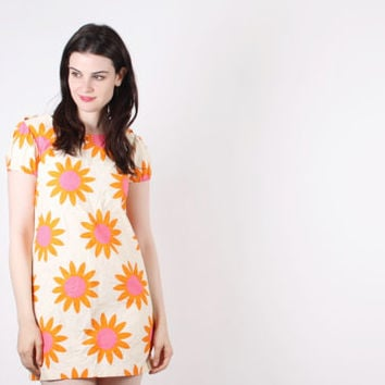 60s Short Sunflower Dress - 60s Short Dresses -  Babydoll Dresses  - The Girl Named Sunshine Dress  - 5155