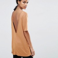 ASOS V Back T-Shirt With Short Sleeve at asos.com