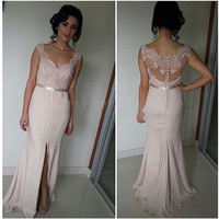 Sweetheart Prom Dresses,Pink Prom Dresses,Long Evening Dress