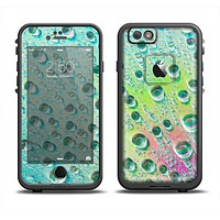 The RainBow WaterDrops Apple iPhone 6 LifeProof Fre Case Skin Set