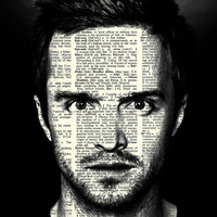 "Jesse Pinkman  - Breaking Bad Series  - 8x11""  Print on Vintage repurposed paper - Dictionary Art Print"