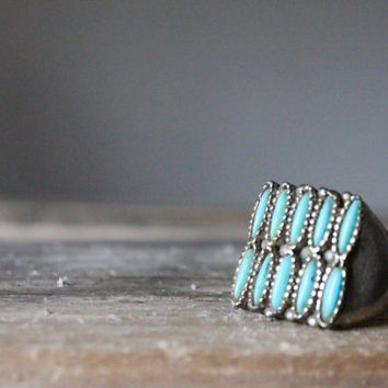 Vintage Oversized Turquoise Adjustable Cocktail by bumbleebuck