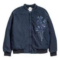 H&M Quilted Lyocell Bomber Jacket $79.99