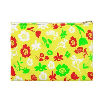 Floral accessory pouch