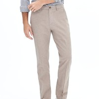 Banana Republic Mens Kentfield Slim Camel Cotton Pant