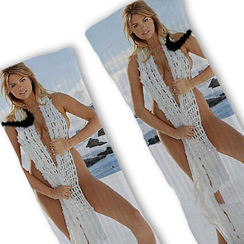Kate Upton Fast Shipping!! Nike Elite Socks Customized