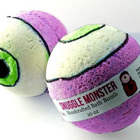 Snuggle Monster Bath Bomb Fizzy Salts Large 10 oz scented in Lavender and Vanilla