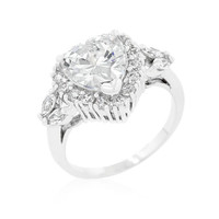 Heart Halo Engagement Ring, size : 05