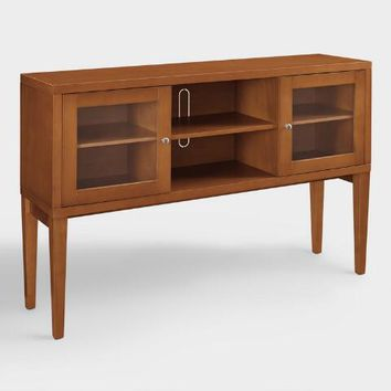 Acorn Brown Wood Hadlee Storage Cabinet