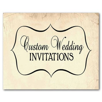 Custom Wedding Invitation and RSVP Card - Printable File - DIY invites - Your design your theme your font your size your colors your style