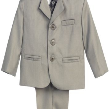 Light Grey Single Breasted Dress Suit 5 Piece (Boys 6 months - size 20H)