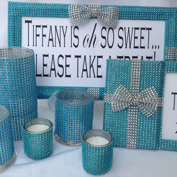 Tiffany Blue Wedding - Tiffany Blue Baby Shower - Tiffany Blue Bridal Shower Decorating Set