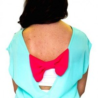 Love & Bows Top - Mint