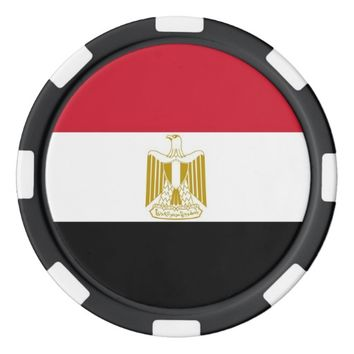 Poker chips with Flag of Egypt