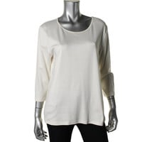 JM Collection Womens Knit Solid Pullover Top