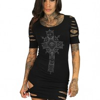"SA ""Moon Cross"" Dress by Sullen Clothing (Black)"