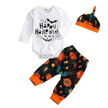 US Newborn Infant Baby Girl Romper Halloween Bodysuit Headband Clothes Outfits