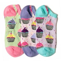 Cupcake Smelly Liner Socks | LittleMissMatched