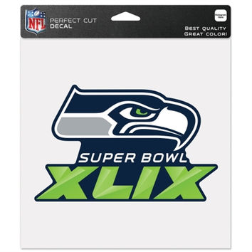 "NFL Seattle Seahawks Wincraft Super Bowl XLIX 8"" x 8"" Perfect Cut Decal"