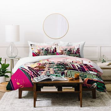 Shannon Clark Hustle And Bustle Duvet Cover